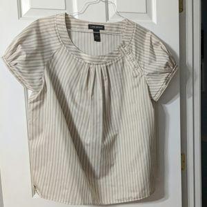 Beige striped blouse